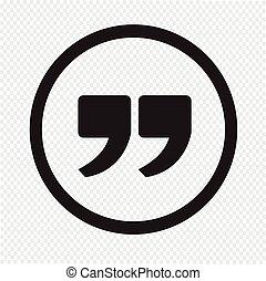 citazione, segno, marchio, icona, quotazione