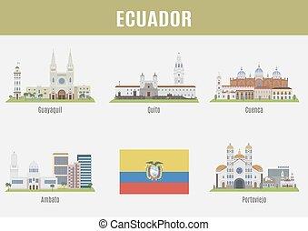 Cities in Ecuador. Famous Places Eciador cities