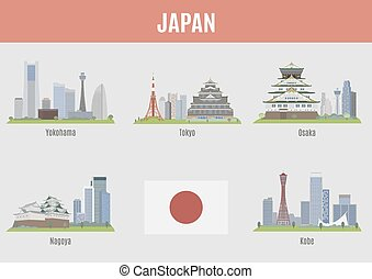 Cities in Japan. Famous Places Japan cities