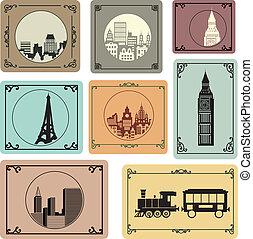 Cities in retro style