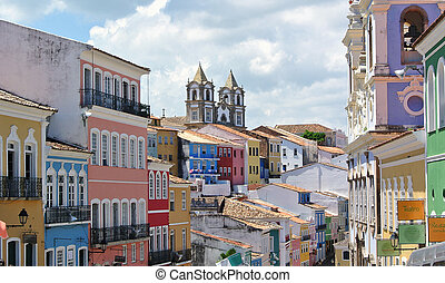 Citiy of Slavador - Pelourinho in Salvador da Bahia