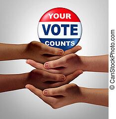 Citizen Vote - Citizen vote and voters or voting citizens...