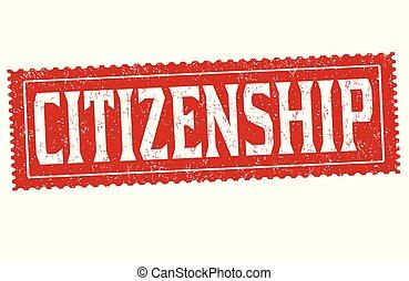 Citizenship grunge rubber stamp