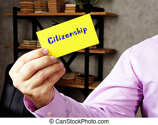 Citizenship  phrase on the page.