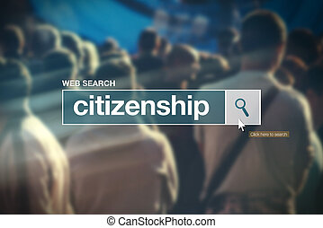 Citizenship - web search bar glossary term