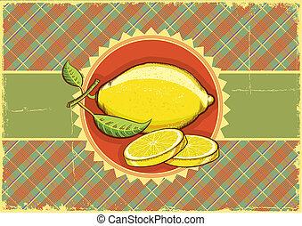 citrón, s, mladický list