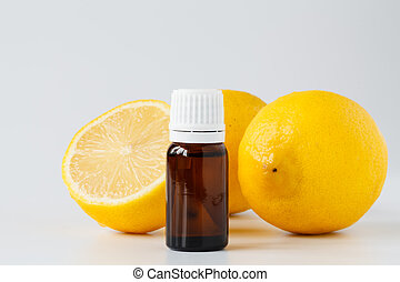 citroen, essentie, olie, -, beautybehandeling