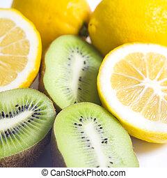 citroen, fruit, kiwi, citrus