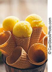 citroen, roomijs
