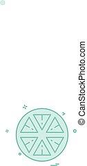 citroen, vector, ontwerp, pictogram