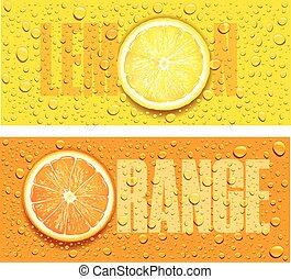 citrom, sok, víz, lé, háttér, narancs, savanyúcukorka