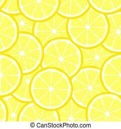 citron, citrus, modèle, seamless, fruit, couper, clair