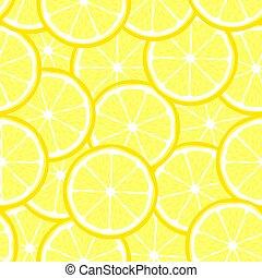 citron, clair, seamless, couper, fruit, citrus, modèle