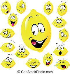 citron, dessin animé