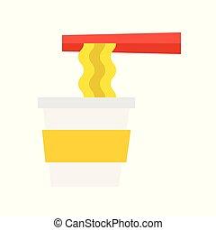 citron, gastronomie, restaurant, fish, vapeur, mer, icône, fish, nourriture, plat, chinois, menu, conception, logo