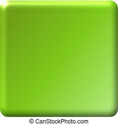 Citron Green Square Button