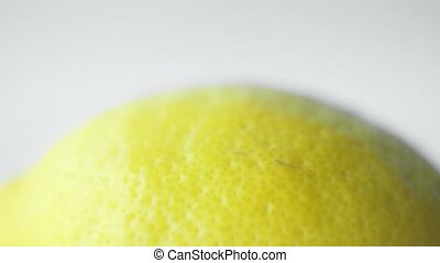 citron, jaune, arrière-plan., frais, organique, blanc