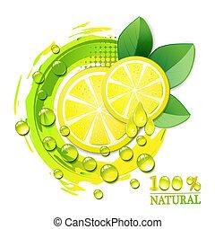 citron, jaune, tranches
