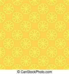 citron, modèle, seamless