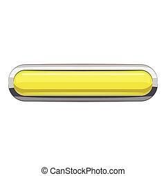 Citron rectangular button icon, cartoon style