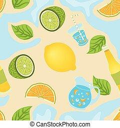 citron, seamless, fond