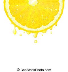 citron, segment, jus
