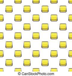 Citron square button pattern