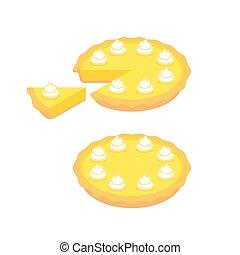 citron, tarte, illustration