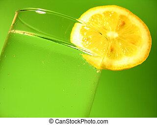 citron, vatten