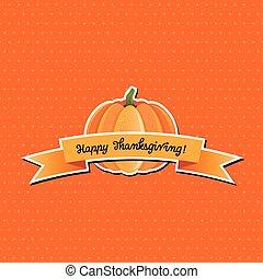 citrouille, à, heureux, thanksgiving, bannière