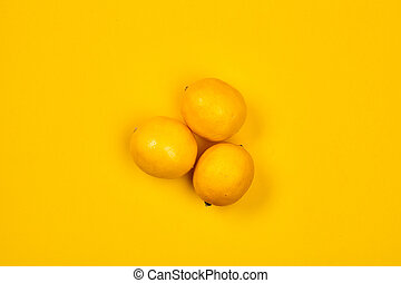 citrus., útil, fruit., lemon., yellow., desenho, seu