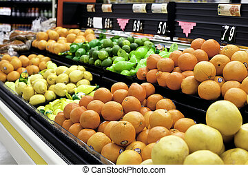 citrus, čerstvé ovoce, vystavit