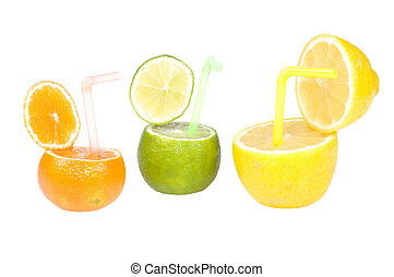Citrus abstract fruit drink.