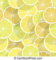 citrus, achtergrond., citroen, seamless
