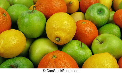 Citrus And Apples Vitamin C Health Food - Apples, oranges...