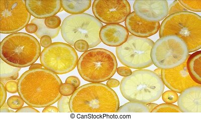 citrus animation - stop motion transition with citrus fruits