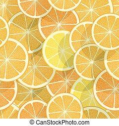 citrus, arrière-plan., seamless, orange