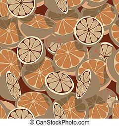 citrus, carreau, seamless