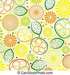 citrus, fond, résumé