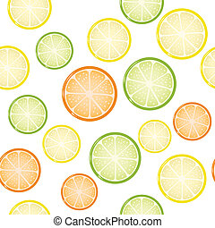 citrus, fond, seamless