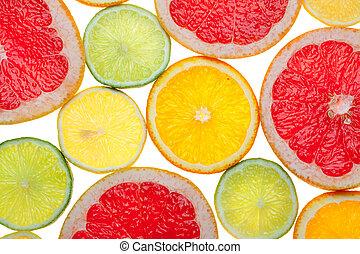 Citrus food background