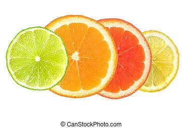citrus fruit isolated on white