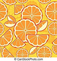 Citrus Fruit Slices background