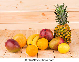 citrus fruits and mangoes