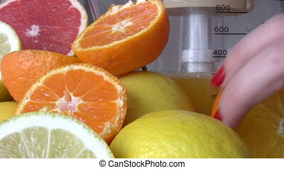 Citrus fruits  - Fresh homemade citrus fruits