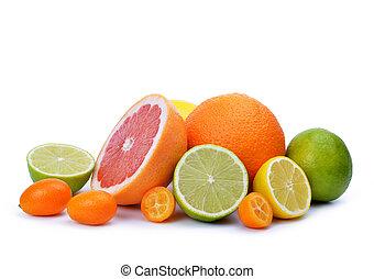 Citrus fruits ( Grapefruit, Orange, Lemon, Lime, Kumquat )