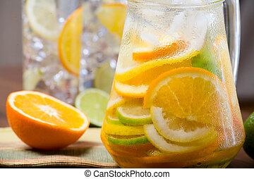 Citrus ice water