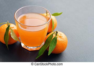 Citrus juice in glass