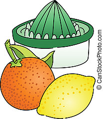 Scalable vectorial image representing a citrus juicer, isolated on white.