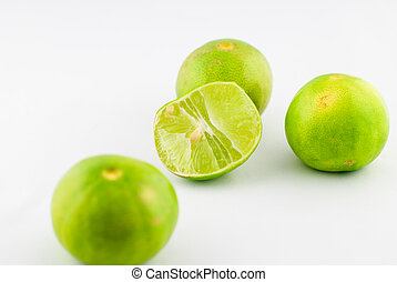 Citrus lime fruit isolated